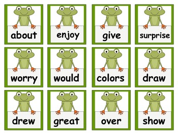 Frog Themed Scott Foresman Reading Street High Frequency Words Units 1.R-5 Gr. 1