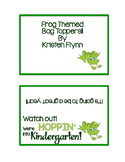Frog Themed Snack Bag Toppers
