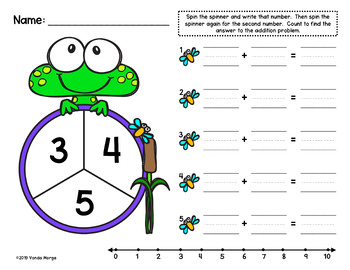 Frog Themed Spinner Math Activities