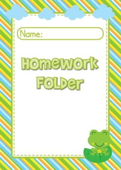 Frog Themed Student Binder Covers