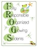 Frog Themed Student Folder Cover