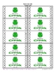 Frog Themed Student Incentive Punch Cards