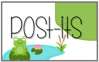Frog Themed Supply Labels