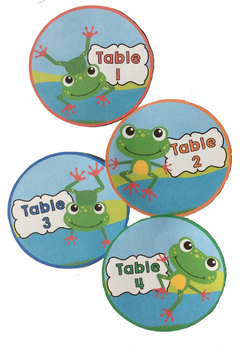 Frog Theme Table Signs