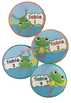 Frog Themed Table Signs