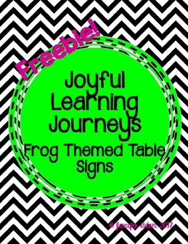 Frog Themed Table Signs Number 1-8