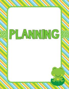 Frog Themed Teacher Management Materials - FREE!