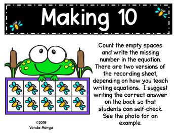 Frog Themed Ten-Frame Activities