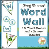 Frog Themed Word Wall Display