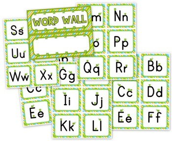 Frog Themed Word Wall Labels // Alphabet Flashcards