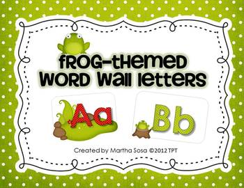 Frog-Themed Word Wall Letters (2 sizes)