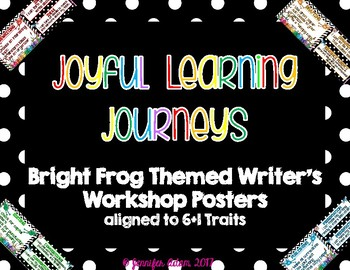 Frog Themed Writing Process Posters Aligned to Writing Traits & I Can Statements