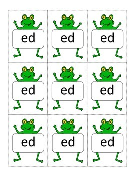 Frog Themed -ed and -ing