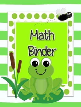 Frog Binder Covers