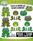Frog / Toad Build-A-Character Clipart {Zip-A-Dee-Doo-Dah Designs}