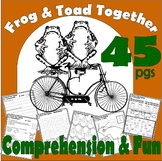 Frog & Toad Together : Comprehension Book Companion Literacy Unit Activity Pack