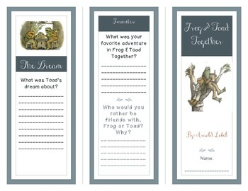 Frog & Toad Together Guided Reading Brochure