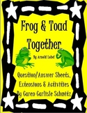 Frog & Toad Together Q&A Sheet with Extensions and Activities