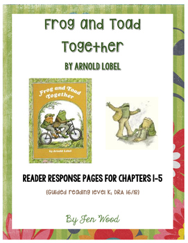 Frog & Toad Together: Reader Response Pages