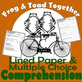 Frog & Toad Together : Reading Comprehension with Multiple Choice 5 Stories Quiz