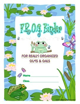 Frog {Toad or Pond} Binder Cover