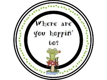 Frog Transportation Tags