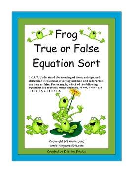 Frog True False Equation Sort