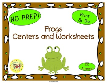 Frogs Worksheets Activities Games Printables and More