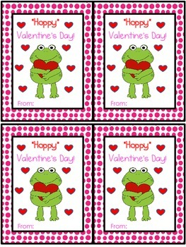 Frog Valentine's Day Cards