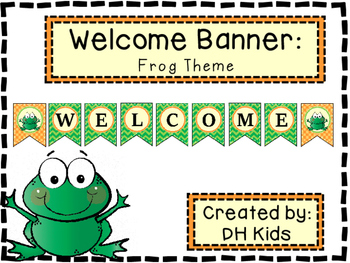 Frog Welcome Banner
