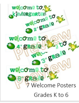 Frog Welcome Posters