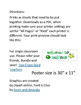 Frog Welcome Posters Grades and Subjects