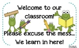 Frog Welcome Sign