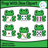 Frog With Dice Clipart