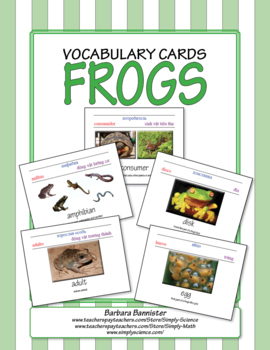 Frog Word Cards