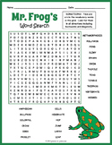 Frog Word Search Puzzle