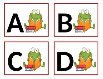 Frog Word Wall Letters - Alphabet Flashcards