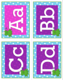 Frog Decor Word Wall Alphabets