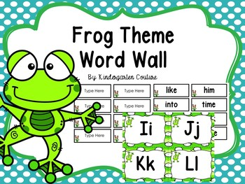 Frog Word Wall And 200 Fry Words Editable