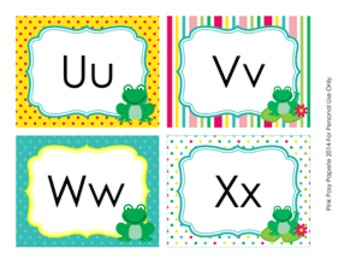 Frog Word Wall Headers