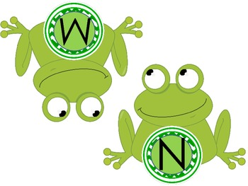 Frog Word Wall Headings or Bulletin Board Letters