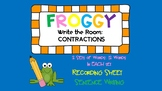 Frog Write the Room: Contractions