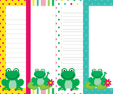 Frog Writing Paper - 3 Styles - 4 Designs