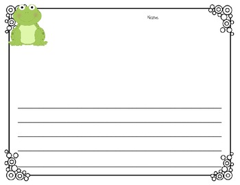 Frog Writing Unit (papers, graphic organizers, craftivity, easy reader, etc.)