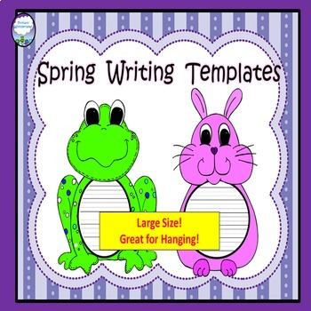 Spring Writing Templates Frog and Bunny