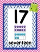 Frog and Chevron Number Line 0-20 with Base Ten Frames