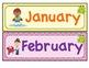 Frog and Chevron Theme Calendar Set