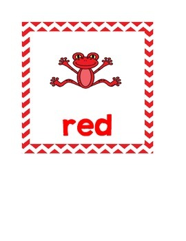 Frog and Chevron Themed Color Words