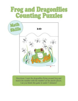 Frog and Dragonfly Counting Puzzles pdf games