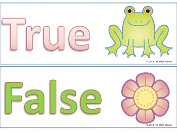 Frog and Flower Equality Addition and Subtraction Facts Early Multiplication